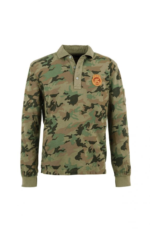 Polo M/L CAMOUFLAGE VERDE