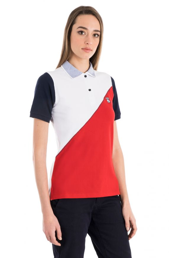 POLO IN PIQUET STRETCH COLOR BLOCK