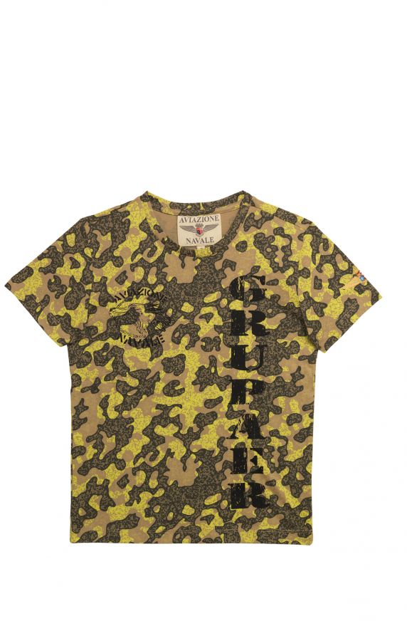 T-Shirt  M/M CAMOUFLAGE GIALLO