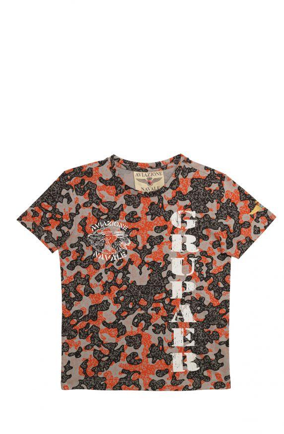T-Shirt  M/M CAMOUFLAGE ARANCIONE
