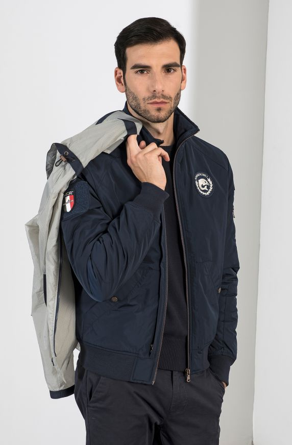 BOMBER WITH REMOVABLE WINDPROOF JACKET