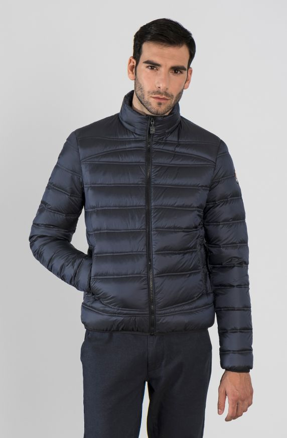 QUILTED JACKET IN REAL FEATHER