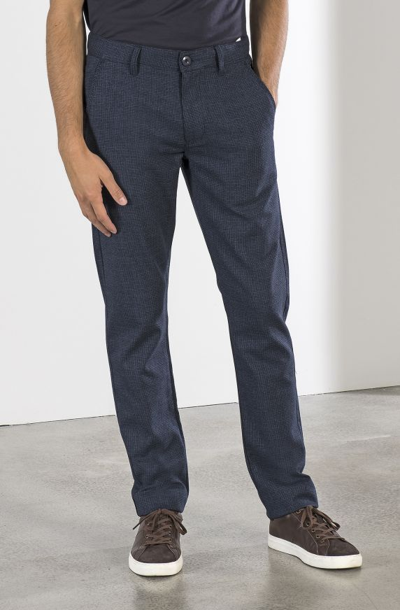 HOUNDSTOOTH CHINO PANTS