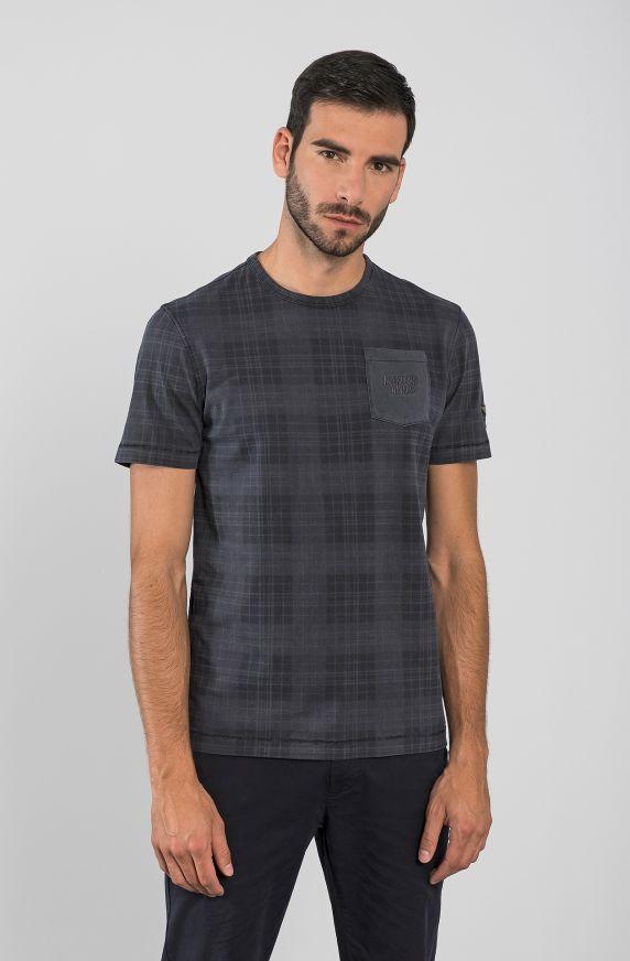 T-Shirt  M/M TARTAN BLU