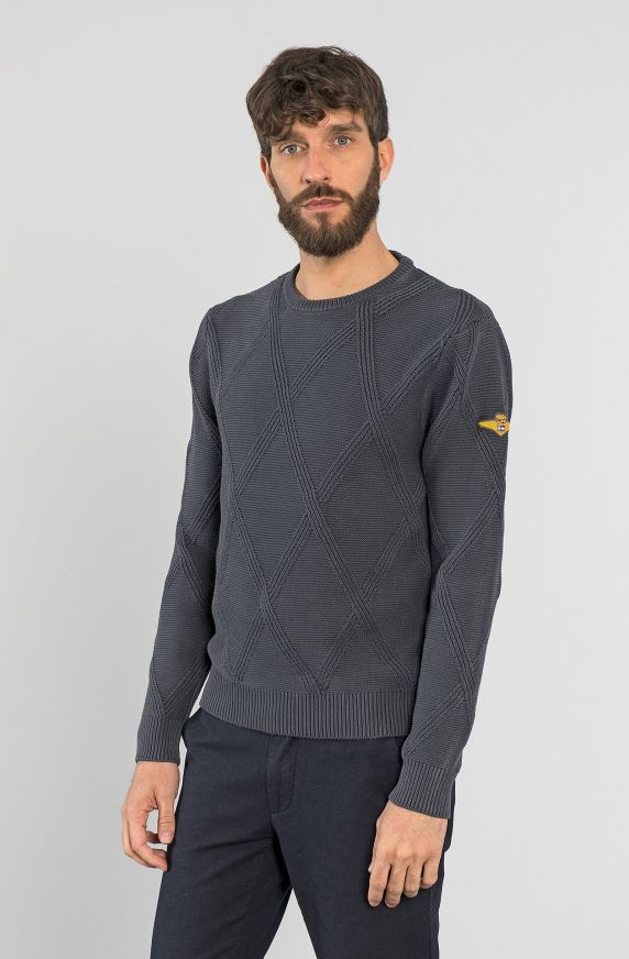KNITTED PULLOVER IN PURE COTTON