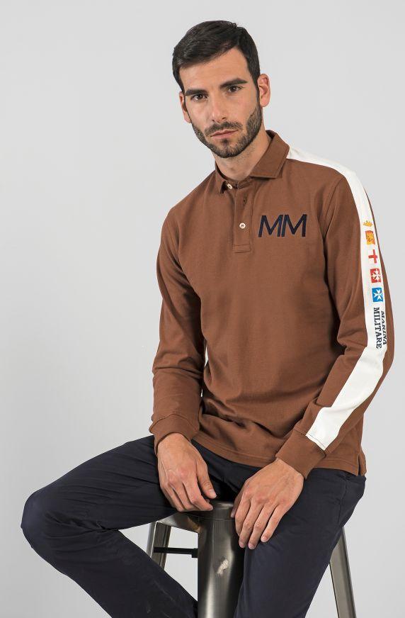 Polo M/L MARRONE