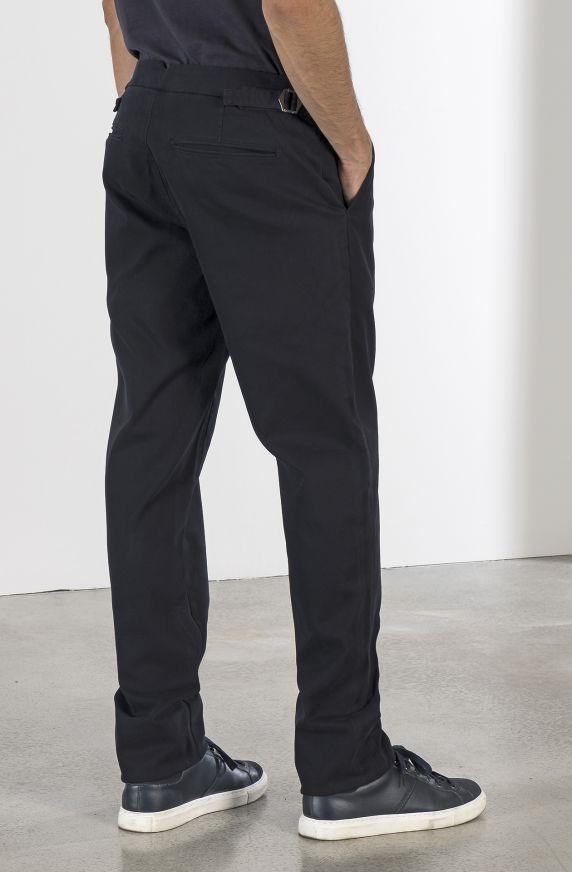 DIAGONAL STRUCTURED CHINO PANTS