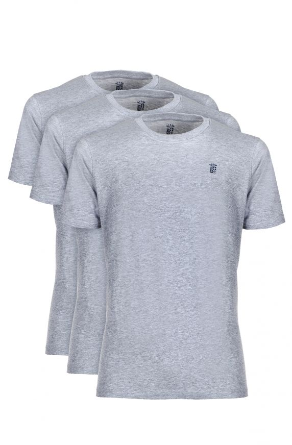 T-Shirt M/M (3 PACK SOLID) GRIGIO CHIARO