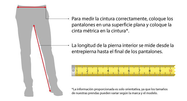 Guìa de tallas Pantalones